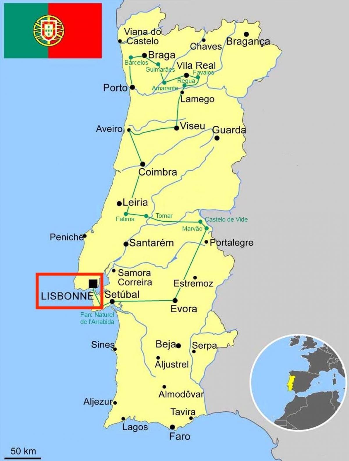 Lisbon portugal map - Lisboa portugal map (Portugal)