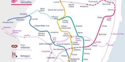 Subway Map Of Lisbon.Lisbon Map Maps Lisbon Portugal